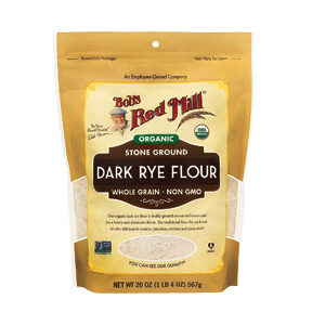 Bob's Red Mill, Organic Dark Rye Flour, Whole Grain, 20 OZ (567 lbs)