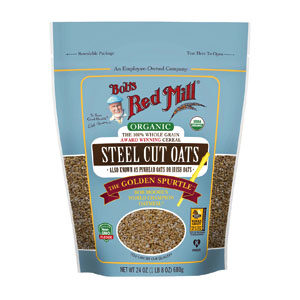 Bob's Red Mill - Oats - Organic Quick Cooking Steel Cut Oats - 22 OZ