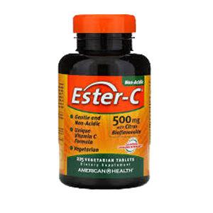 AMERICAN HEALTH Ester C 500mg w/Citrus Bioflavins 120 CAP