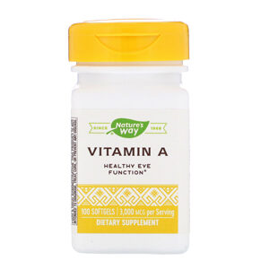 Nature's Way, Vitamin A, 3,000 mcg, 100 Softgels