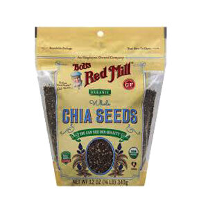 Bob's Red Mill, Organic Whole Chia Seeds, 12 OZ