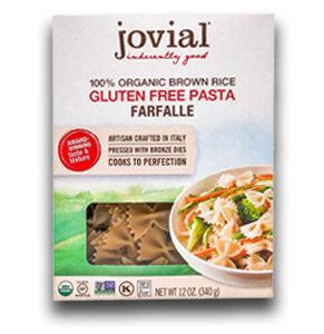Jovial Gluten Free Brown Rice Pasta Farfalle -- 12 OZ