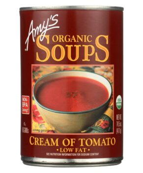 AMY'S: Organic Soup Low Fat Cream of Tomato, 14.5 OZ