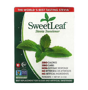 Wisdom Natural, SweetLeaf, Natural Stevia Sweetner, 70 Packets, 2.5 OZ