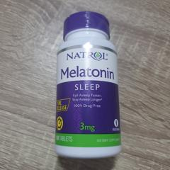 Natrol, Melatonin, Time Release, 3 mg, 100 Tablets