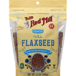 BOBS RED MILL: Premium Whole Flaxseed Brown, 13 oz