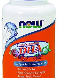 Now Foods, Kid's Chewable DHA, Fruit Flavor, 60 Softgels