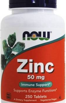 Now Foods, Zinc, 50 mg, 250 Tablets