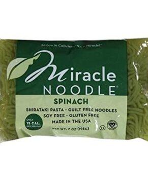 Miracle Noodle, Spinach, Shirataki Pasta, 7 oz (198 g)