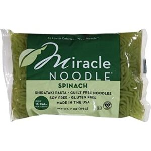 Miracle Noodle, Spinach, Shirataki Pasta, 7 oz (198 g)