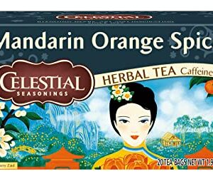 Celestial Seasonings Herbal Tea Caffeine Free Mandarin Orange Spice -- 20 Tea Bags