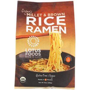 Lotus Foods Organic Rice Ramen Noodles Millet & Brown -- 10 oz