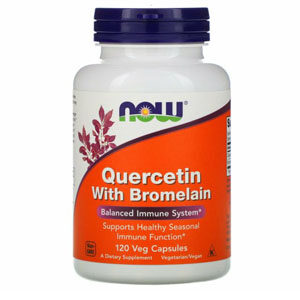 Now Foods, Quercetin with Bromelain, 120 Veg Capsules
