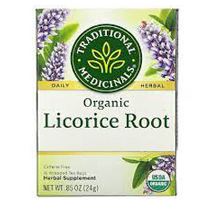 Traditional Medicinals, Organic Licorice Root, Caffeine Free, 16 Wrapped Tea Bags, .85 oz (24 g)