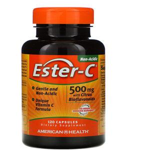 American Health, Ester-C with Citrus Bioflavonoids, 500 mg, 120 Capsules
