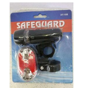 SafeGuard Bike Light Set - Best Front and Rear Lighting - Fits All Bikes