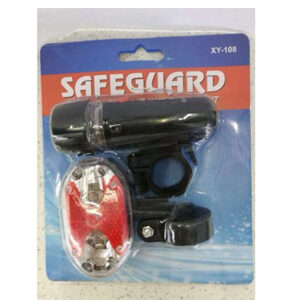 SafeGuard Bike Light Set - Best Front and Rear Lighting - Fits All Bikes