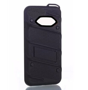 Phantom Hybrid hard tough dual layer armor case for Samsung Galaxy phone (Black)