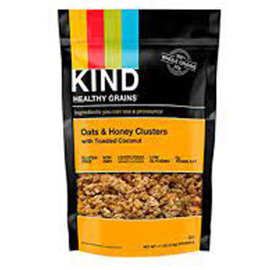 KIND Bars, Healthy Grains, Oats & Honey Clusters with Toasted Coconut, 11 oz (pack of 1)