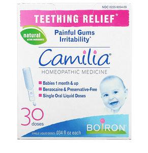 Boiron, Camilia, Teething Relief, 1 Month + , 30 Doses, 0.034 fl oz (1 ml) Each