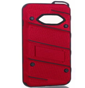 Phantom Hybrid hard tough dual layer armor case for Samsung 7 Edge Phone (Red)