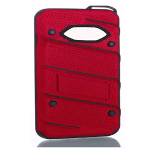 Phantom Hybrid hard tough dual layer armor case for Samsung Galaxy phone (Red)