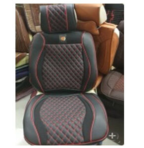 Car Seat Cover Cushions PU Leather - 5 seats Full Set, Black