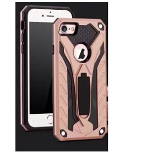 Hybrid Kickstand Case Phantom Series For Samsung 7 Edge(Rose Gold/Black)