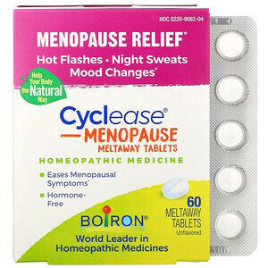 Boiron, Cyclease Menopause, Unflavored, 60 Meltaway Tablets