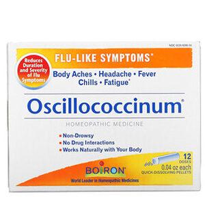 Boiron, Oscillococcinum, Flu-Like Symptoms, 12 Quick-Dissolving Pellets , 0.04 oz Each
