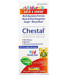 Boiron, Chestal, Children's Cold & Cough, 3+ and Older, 6.7 fl oz (200 ml)