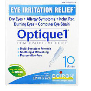 Boiron, Optique1, Eye Irritation Relief, 10 Doses, 0.013 fl oz Each