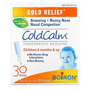 Boiron, ColdCalm, Cold Relief, 6 Months & Up, 30 Single Oral Liquid Doses, .034 fl oz Each