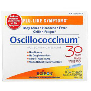 Boiron, Oscillococcinum, Flu-Like Symptoms, Age 2 & Up, 30 Quick-Dissolving Pellets , 0.04 oz Each
