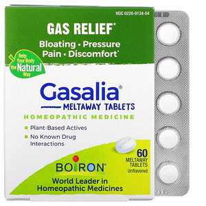 Boiron, Gasalia, Gas Relief, Unflavored, 60 Meltaway Tablets