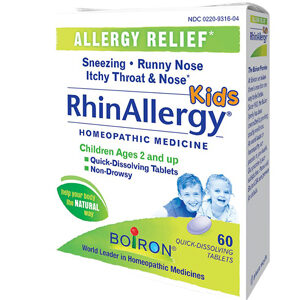 Boiron RhinAllergy® Kids -- 60 Quick Dissolving Tablets