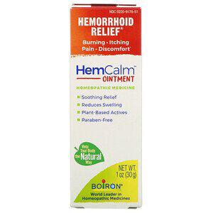 Boiron, HemCalm Ointment, Hemorrhoid Relief, 1 oz (30 g)