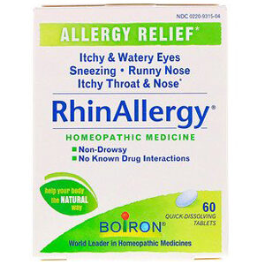 Boiron, RhinAllergy, Allergy Relief, 60 Quick-Dissolving Tablets