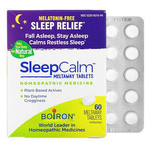 Boiron, Sleep Calm Meltaway Tablets, Unflavored , 60 Meltaway Tablets