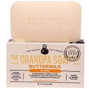 Grandpa's, Face & Body Bar Soap, Nourish, Buttermilk, 4.25 oz (120 g)