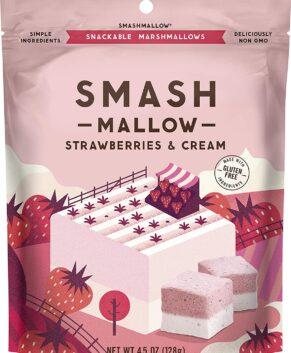 Smashmallow Snackable Marshmallows Strawberries & Cream 4.5 Oz