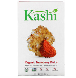 Kashi Breakfast Cereal, Vegan Protein, Organic Cereal, Strawberry Fields, 10.3oz Box, 1 Box