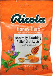 Ricola Herb Throat Drops Honey Herb -- 24 Drops