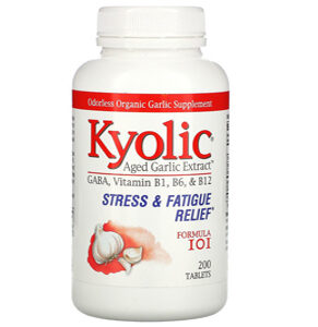 Kyolic, Aged Garlic Extract, Stress & Fatigue Relief, Formula 101, 200 Tablets