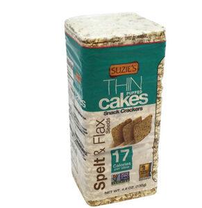 Suzie's Whole Grain Thin Cakes Spelt & Flax Seeds -- 4.6 oz