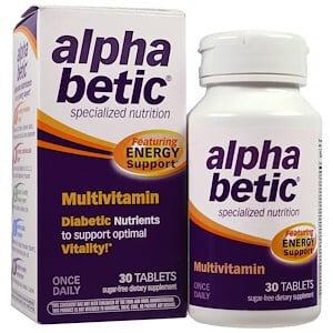 Abkit, Alpha Betic, Multivitamin, 30 Tablets