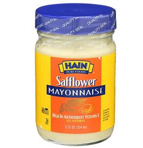 Hain Pure Foods Safflower Mayonnaise -- 12 oz
